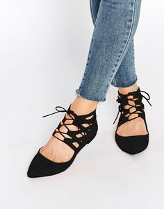 ASOS COLLECTION ASOS LEVEL UP Lace Up Ballets