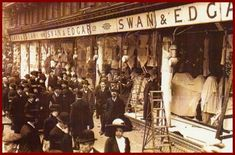 1912 Suffragettes smashed Swan & Edgar's London store windows.