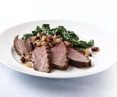 Seared Duck Breasts with Pear-Bourbon Relish via Fine Cooking | #food #recipes #duck