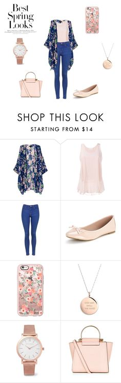"""Spring look #7"" by maeva-hoarau ❤ liked on Polyvore featuring Chloé, Topshop, Casetify, Kate Spade, Larsson & Jennings, New Look and H&M"