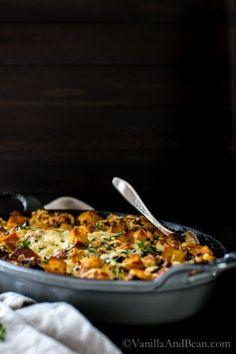Kale, Mushroom, Leek Savory Bread Pudding | Vegetarian | Vanilla And Bean