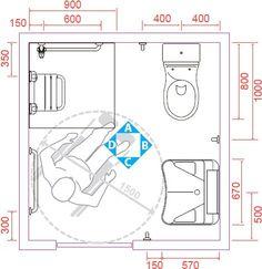 Risultati immagini per misure per bagni disabili