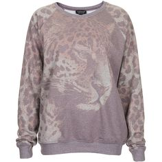 TOPSHOP Photo Leopard Sweat (210 RON) found on Polyvore