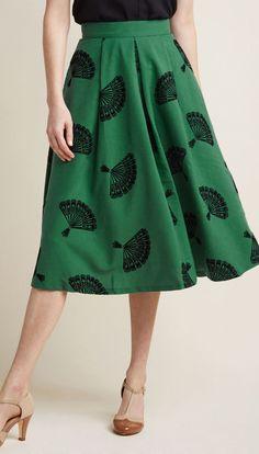 B. Jones Style Midi Skirt in Pine