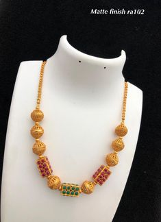 Temple jewellery available at AnkhJewels for booking WhatsApp on 1 Gram Gold Jewellery, Bead Jewellery, Temple Jewellery, Jewellery Designs, Necklace Designs, Gold Jewelry, Necklace Set, Beaded Necklace, Gold Necklace