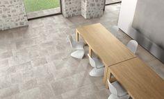 Dordogne Cendre and Stone Look Tile, Stone Tiles, Outdoor Tiles, Outdoor Flooring, Tile Laying Patterns, Flagstone Tile, Exterior Tiles, Natural Stone Flooring, Italian Tiles