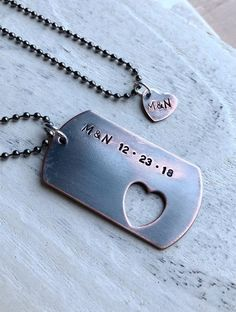 Custom couples necklaces, custom necklace, Personalized necklaces, couples gift anniversary necklace, antique copper necklaces for boyfriend – Necklace 2020 Gifts For Boyfriend Long Distance, Gifts For My Boyfriend, Boyfriend Girlfriend, Personalized Couple Gifts, Personalized Necklace, Initial Necklace, Dog Tag Necklace, Couple Necklaces, Necklace For Girlfriend