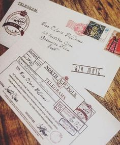 Pin by stacy polo on holiday pinterest wax seals envelopes and make christmas eve extra magical this year and leave a personalised telegram from santa for your spiritdancerdesigns Choice Image