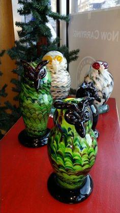 Owls glass sculpture