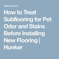 How to Treat Subflooring for Pet Odor and Stains Before Installing New Flooring | Hunker