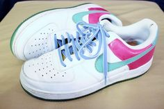 Mens Nike Air Force 1 XXV AF1 Sneakers Pink Hawaiian Gold 315122 141 Shoes 7.5 #Nike #AthleticSneakers