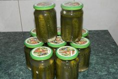 Eggs Benedict Recipe, Pickles, Cucumber, Salsa, Mason Jars, Recipes, Food, Mai, Canning
