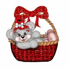 Bear in Red Basket Clipart Baby, Cute Clipart, Teddy Bear Cartoon, Cute Teddy Bears, Cute Cartoon, Teedy Bear, Bear Art, Beanie Baby Bears, Red Basket