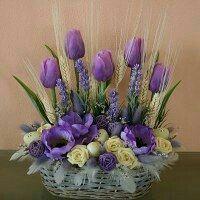 Easter Flower Arrangements, Easter Flowers, Beautiful Flower Arrangements, Flower Vases, Spring Flowers, Flower Pots, Floral Arrangements, Silk Flowers, Deco Floral