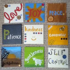 Fruit of the spirit coasters  also, you could make tiles to put throughout the house to create a warm feeling