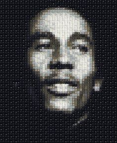 Remarkable Pixelated Portraits Made of Computer Keys - My Modern Metropolis