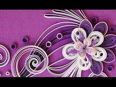 New : Art & Craft How to make Beautiful Quilling White/Pink Flower design -Paper Art Quilling - YouTube