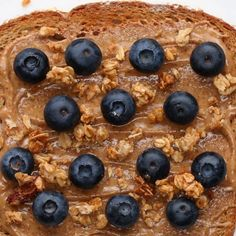 Almond Butter Blueberry Toast Recipe by Tasty