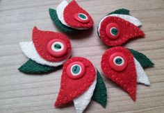 felt embroidery brooch tutorial - Căutare Google