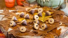 What's cuter than these adorable chocolate acorns? Add some festive flair to your next fall gathering with these tasty treats.