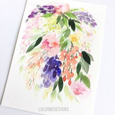 Botanical Prints, Watercolors, My Etsy Shop, Ink, Colour, Unique Jewelry, Handmade Gifts, Vintage, Design