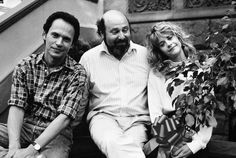 Billy Crystal, director Rob Reiner and Meg Ryan on the set of When Harry Met Sally