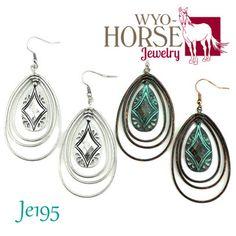 Wyo-Horse Jewelry - Southwestern Hoop Earrings - Patina or Silver finish - Best sellers - Tribal Style - Western Living