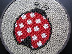 Hey, I found this really awesome Etsy listing at http://www.etsy.com/listing/125843157/ladybug-modern-cross-stitch