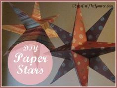 DIY Christmas Stars from scrapbook paper.