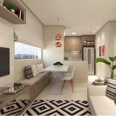 How To Maximize Your Tiny Apartment Storage Hacks And Ideas Dining Room Design, Interior Design Living Room, Living Room Decor, Condo Interior, Kitchen Interior, Farmhouse Style Kitchen, Home Decor Kitchen, Design Moderne, Cuisines Design