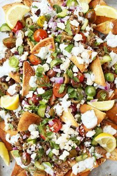 Greek Nachos - The Candid Appetite