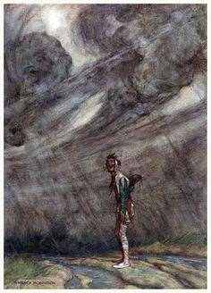 William Heath Robinson -  For the rain it raineth every day - Twelfth Night-  1908.