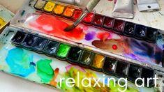 Watercolor Art Diy, Watercolor Paintings, Relaxing Art, Art Therapy, Flower Art, The Creator, Ideas, Art Floral, Water Colors