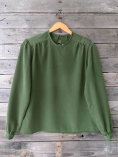 Reflections Olive Green Blouse - $20
