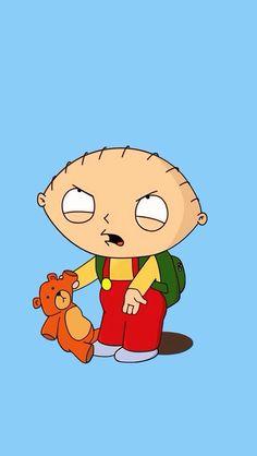Stewie Griffin and his stuffed teddy bear Rupert.
