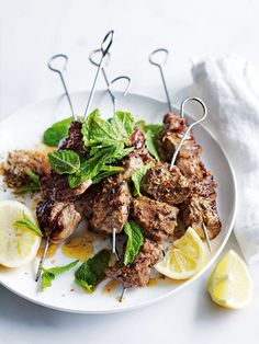 fennel, cumin and coriander lamb skewers by donna hay