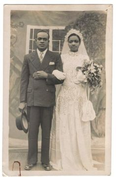 Previous pinner's Auntie Alice & her husband, Uncle Augustine, 1948 submitted by Ebele
