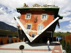 Austria's upside down house now open to the public
