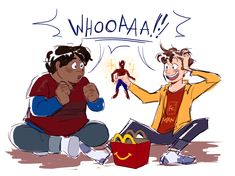Well we know the Avengers have Ben & Jerry's flavors, they should definitely have Happy Meal toys too