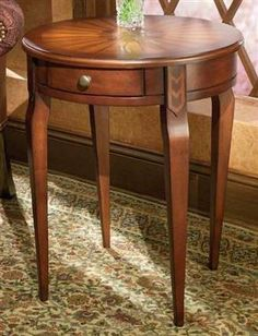 Plantation Cherry Maple Wood Side Table