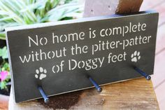 "Dog Leash Hook - ""No Home is Complete Without the Pitter-Patter of Doggy Feet"" by CraftedbyGale on Etsy"