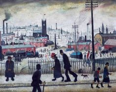View of a Town, England, United Kingdom, 1936, by L. S. Lowry.