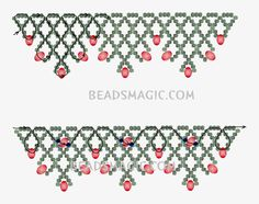 Free pattern for necklace Sorbo | Beads Magic   ~ Seed Bead Tutorials