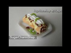 Polymer Clay *Cake Roll w/ Whipped Cream & Kiwi*