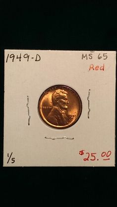 1949-D Lincoln Cent MS65 Red