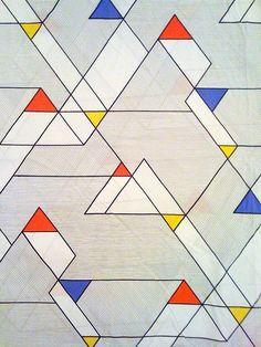 bauhaus typically used primary colours emphasising the geometric shapes of the era. Geometric Patterns, Graphic Patterns, Geometric Designs, Textile Patterns, Geometric Shapes, Print Patterns, Piet Mondrian, Bauhaus Art, Bauhaus Design