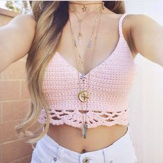 Summer Outfit - Crochet crop top
