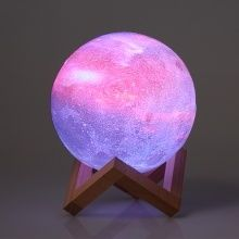10cm 3 94in 3d Printing Star Moon Lamp Usb Led Moon Shaped Table Night Light Sales Online 10 Tomtop Moon Shapes Night Light Colorful Drawings