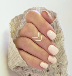 Knuckle Ring Set of 2, Chevron Above the Knuckle Rings, Midi Stacking Dainty Rings Silver or Gold Rings on Etsy, $7.00