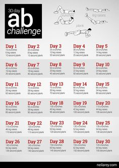 30 day ab challenge.